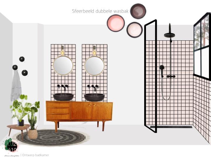 Betere Project: Ontwerp badkamer jaren 30 woning - Ontwerpstudio Luz&10 IV-85